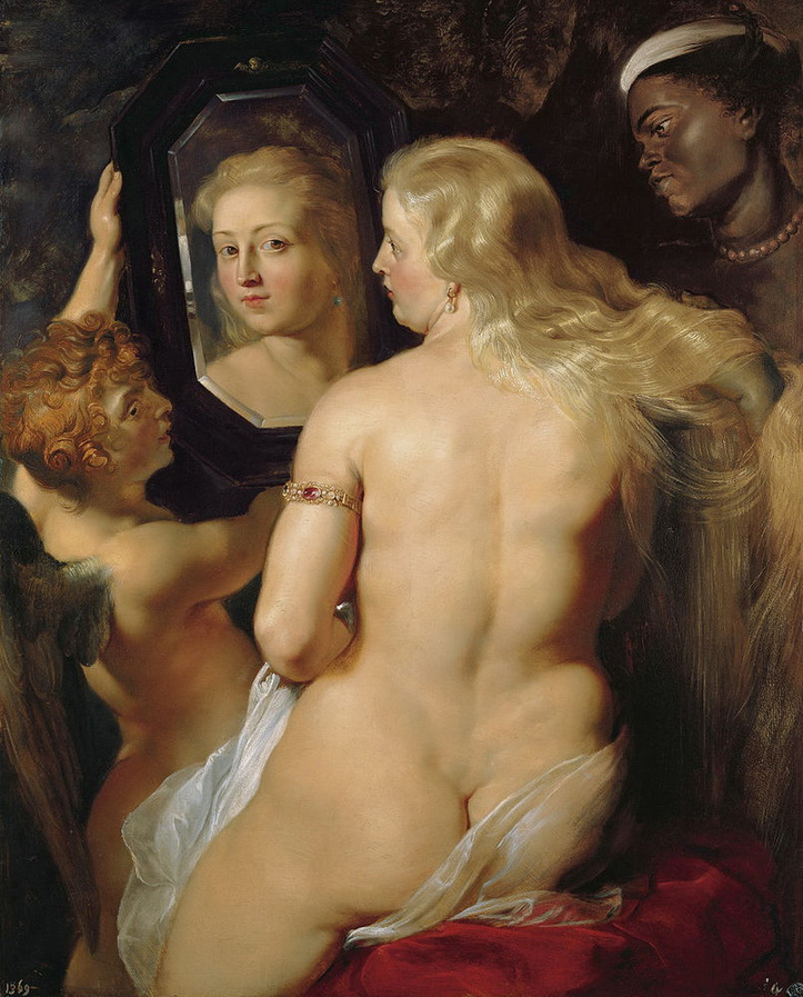 "Pintura de RUBENS, Peter Paul, titulada ""Venus at a Mirror "" (1613-1614)"