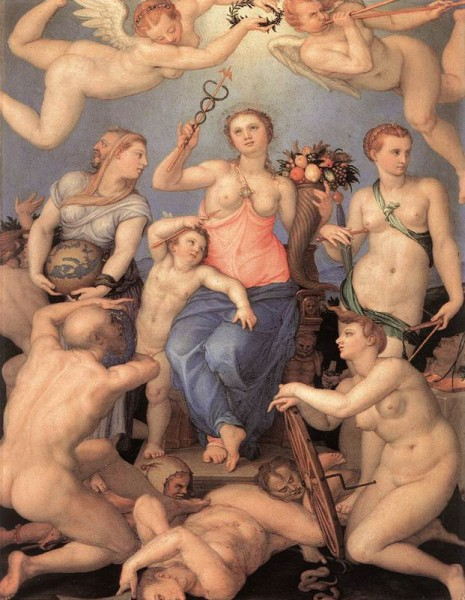 Alegoría de la felicidad. 1564. Bronzino.