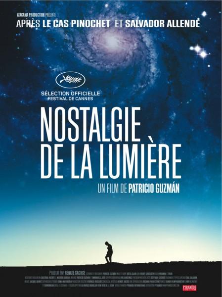 Afiche francés de Nostalgia de la Luz. Chris Marker, el gran cineasta francés, colaboró en la película del chileno Patricio Guzmán.
