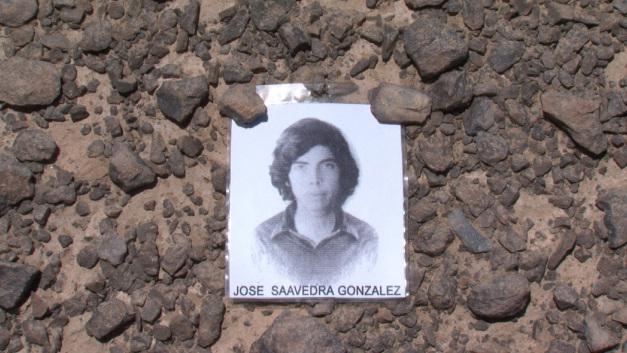 """""""Nostalgia de la luz"""", este domingo a las 22,30. Foto de un desaparecido político en el desierto de Atacama."""