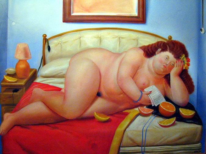 Fernando Botero. Mujer leyendo una carta.