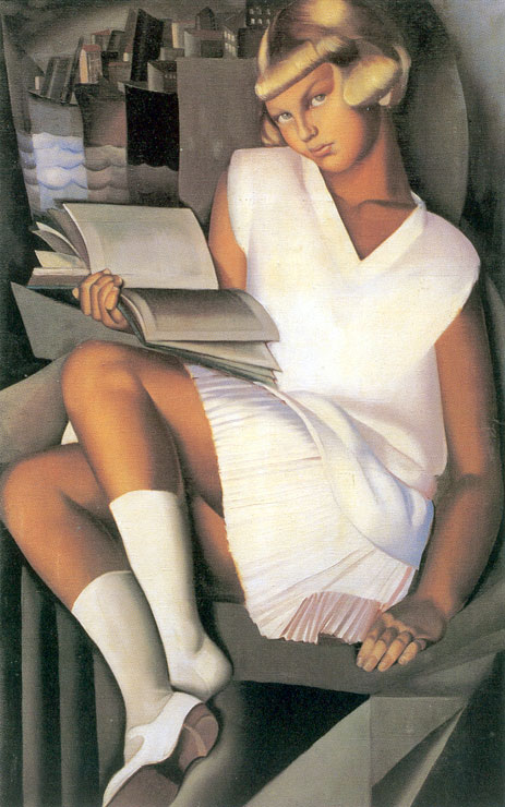 (detalle) Pintura de Lempicka.