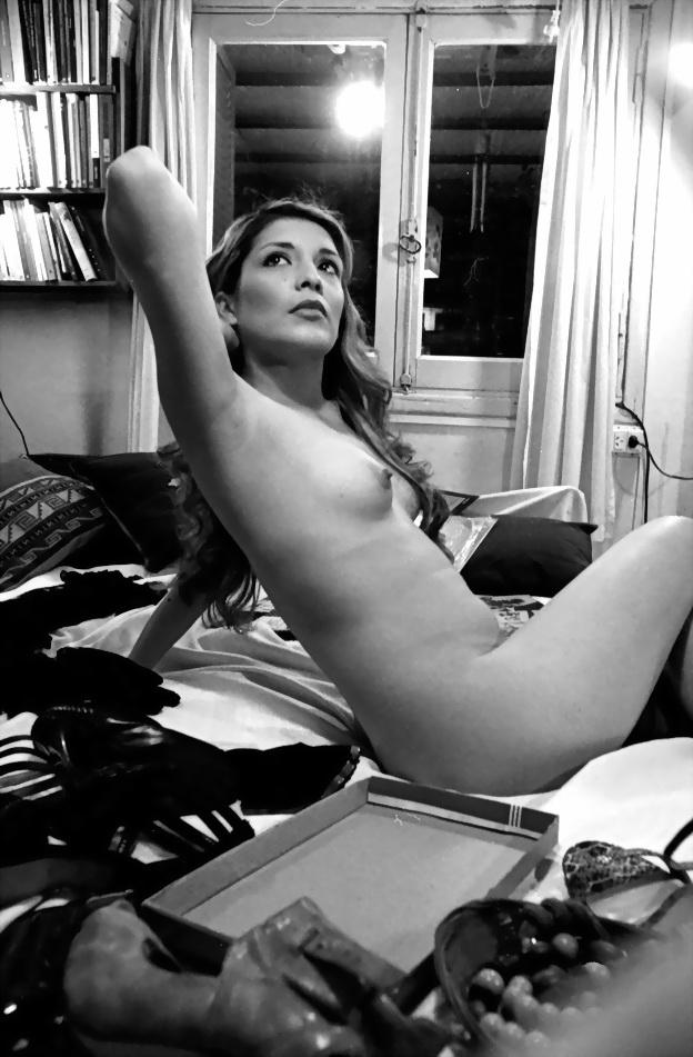 Angeles, rubia, otra de las modelos de Amílcar Moretti.