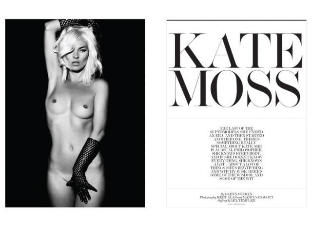 Kate Moss, la más grande supermodelo del mundo. Posa siempre en desnudo. Aquí como una Venus Púdica. (Libro de arte dedicado a ella)