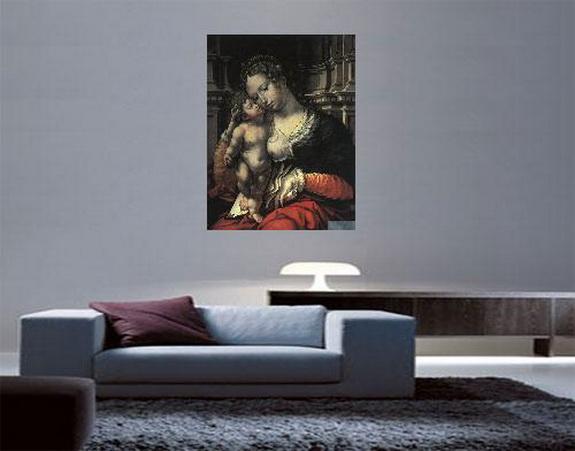 La Virge con el Niño, de Jan Bossaert, expuesta.
