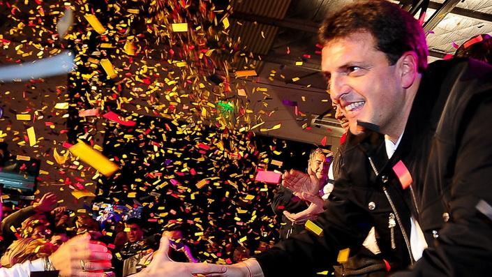 Sergio Massa, electro diputado antikirchnerista en las elecciones de la provincia de Buenos Aires, Argentina.