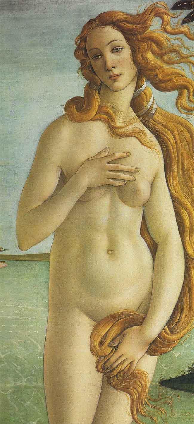 Venus (detalle) de Botticelli.