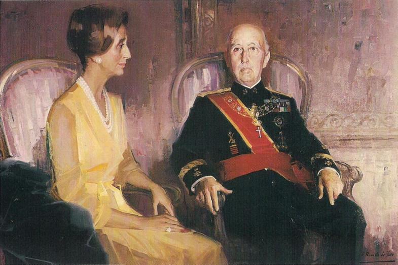 El dictador Franco y su esposa. Feliz Revello de Toro.