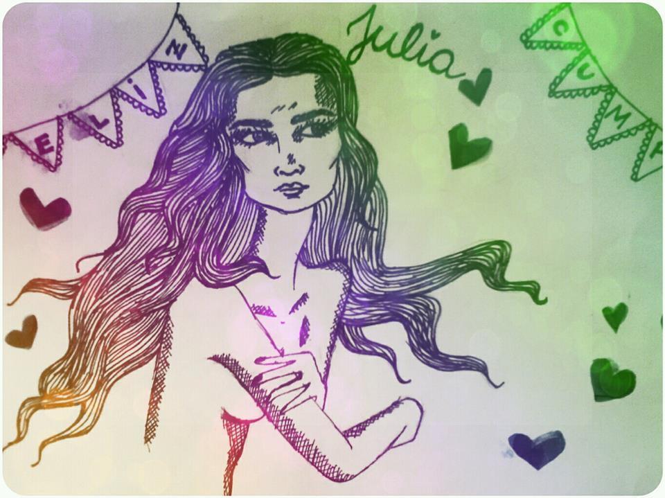 Julia. Dibujo de Olivia Chiappe. 11 de agosto 2013.