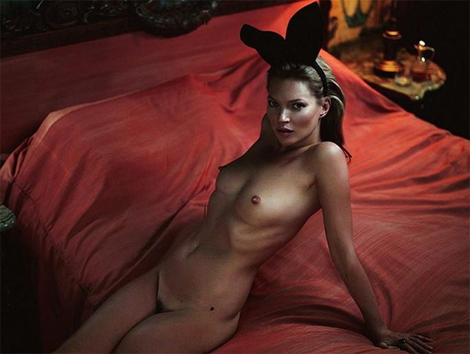 Una de las fotos de Kate Moss por Mert & Marcus, lo más cheto de Europa. Tapa de Playboy en enero, para festejar el 60 aniversario de la publicación de H. Heffner. También Mossy hizo de conejita. Es la mejo.