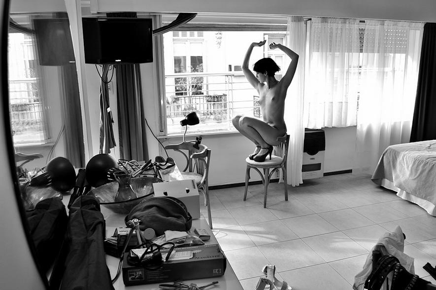 Amilcar Moretti, en loft arte en Buenos Aires, cerca de avenidas de Mayo y 9 de julio. Lunes 30 diciembre 2013. Argentina.