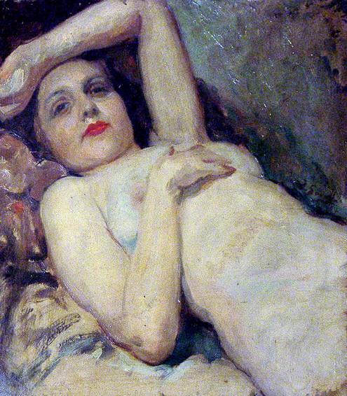 Joaquín Sorolla. Desnudo tumbado.