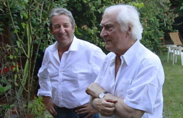 Cobos con Fernando Ezequiel Solanas. (de Noticias día por día)