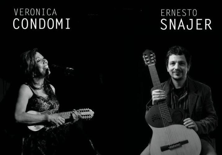 (de un afiche referido a una actuación de Verónica Condomí y Ernesto Snajer)
