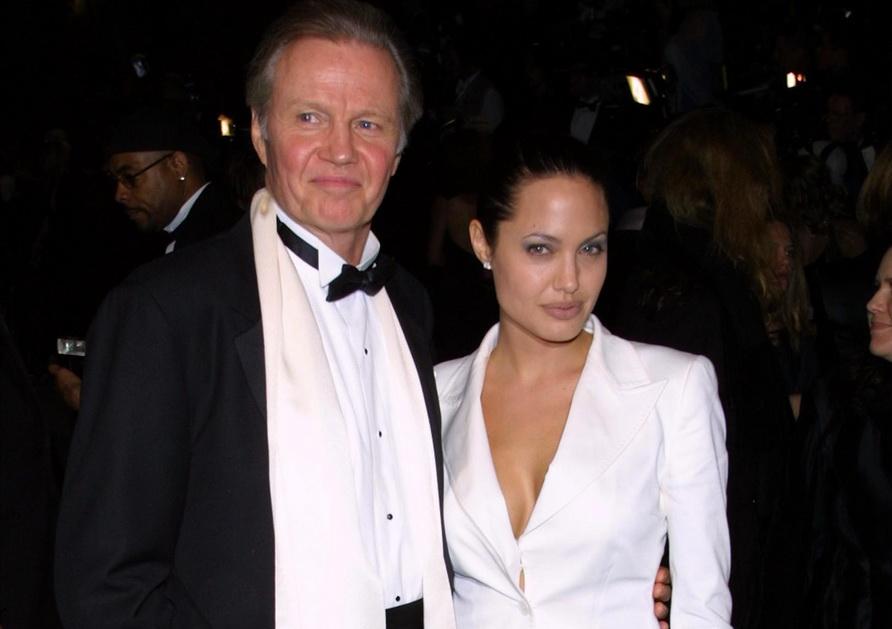 Jon Voight y su hija Angelina Jolie (Gentileza de cinema fanpage.com.t)