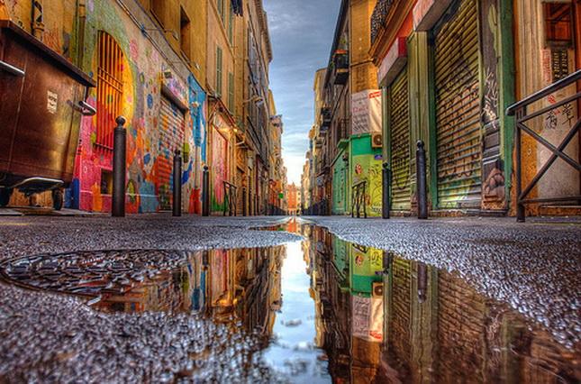 Cours Julien, alrededores, en Marsella, Francia.