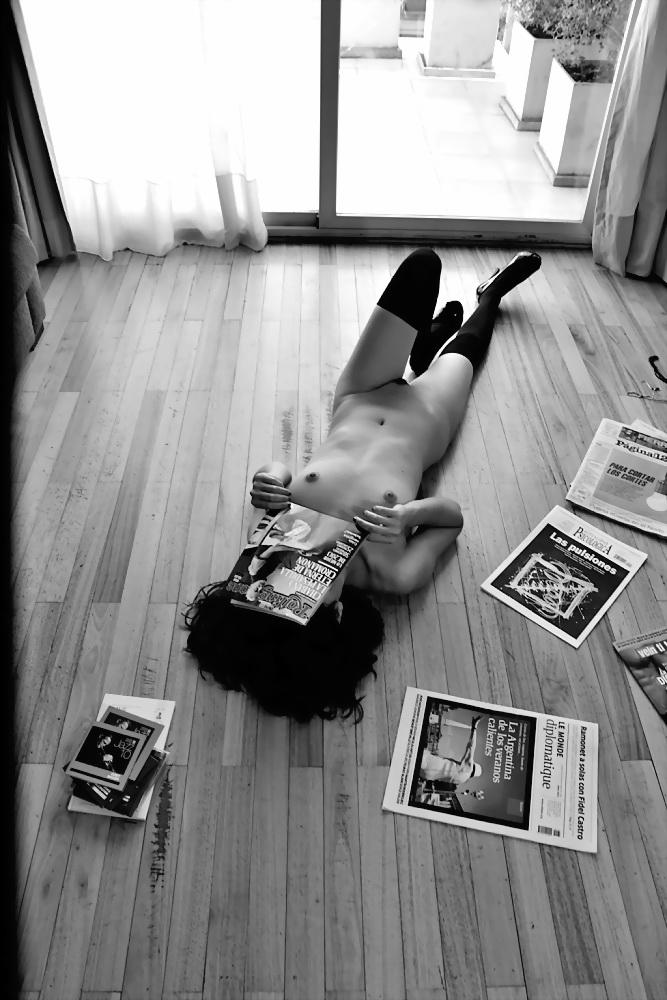 INDA MORENA por Amílcar Moretti. Martes 11 de febrero 2014, en Buenos Aires, suite en Callao y Viamonte. Argentina.
