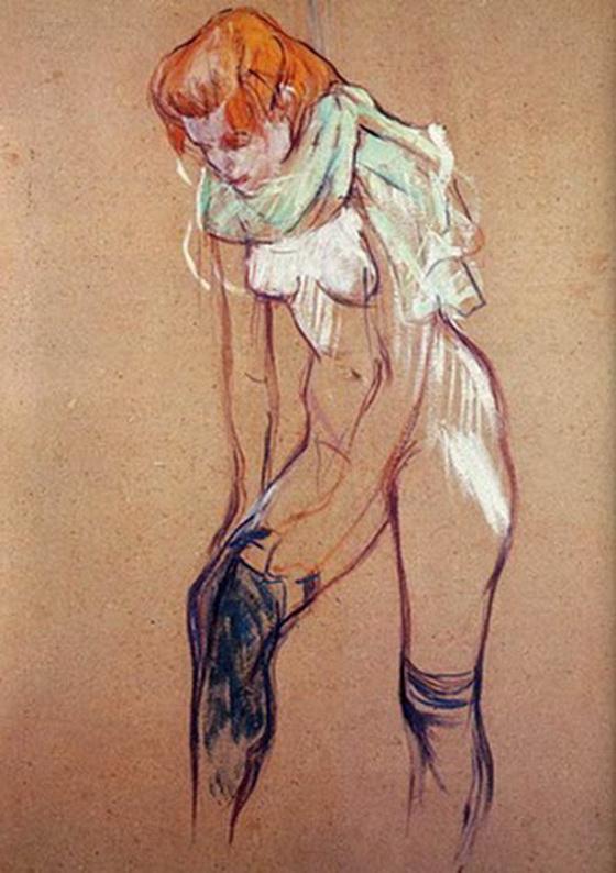 Toulouse Lautrec, en el prostíbulo en que vivía, el Moulin Rouge.