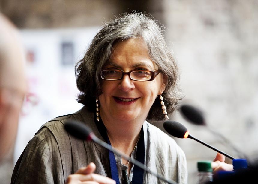 Siobhán Parkinson, escritora inglesa de literatura infantil.