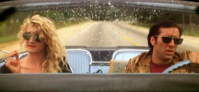Los amantes huyen por las rutas de Estados Unidos. Sailor y Lula. (de Mad-Movies, sitio digital francés)