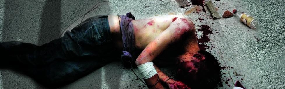 Quizás un ladronzuelo, muerto a patadas en Azcuénaga, Rosario, Provincia de Santa De, Argentina.