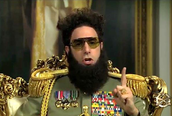 Sacha Baron Cohen, en El Dictador.