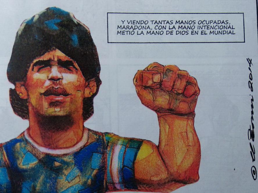 Maradona. Por el Tomi. Rev. Fierro. Junio 2014. P1010135