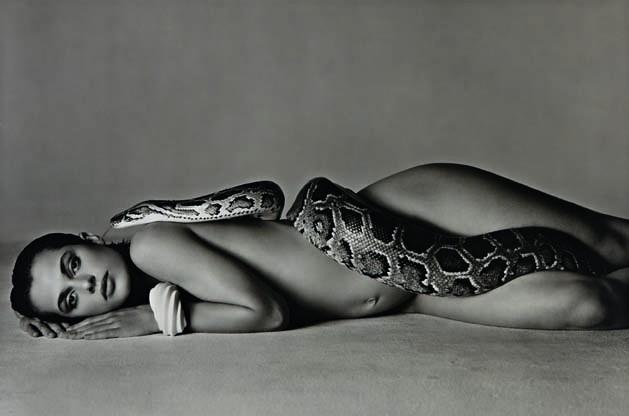 La celebérrma y valorada foto del maestro mundial  Richard Avedon de 1982: Nastassja Kinsky y la serpiente.