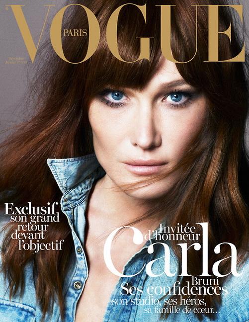 Carla Bruni en Vogue. Amilcar Moretti también tiene fotos en Vogue Italia.