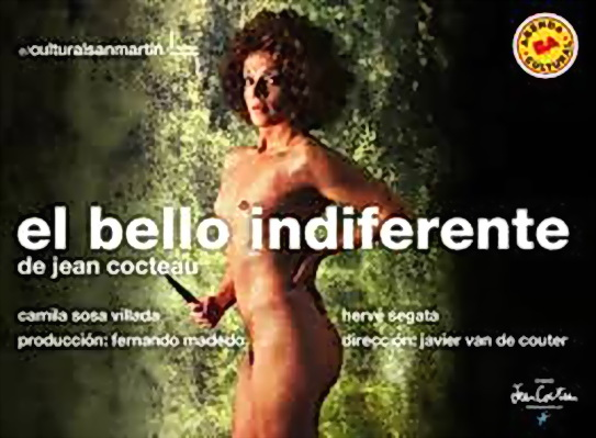 El Bello Indiferente, la obra de Jean Cocteau que la actriz de CORDOBA Camila Sosa Villada estrena esta noche en Buenos Aires.