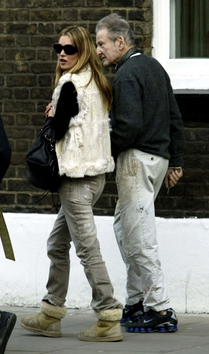 Lucian Freud con Kate Moss