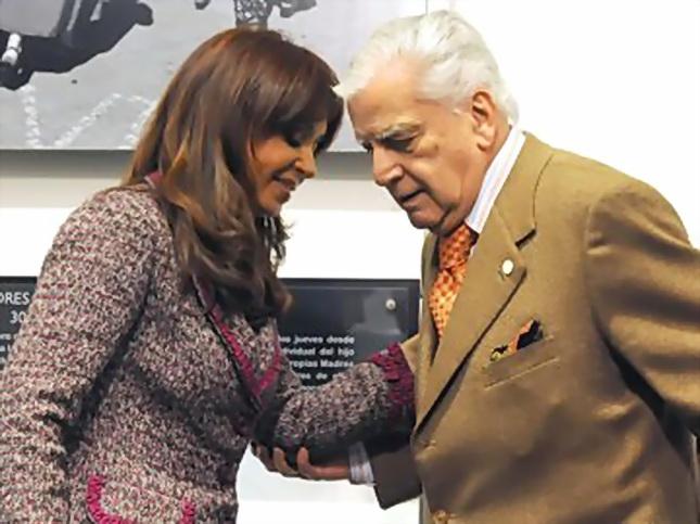 Antonio Cafiero y Cristina Kirchner.