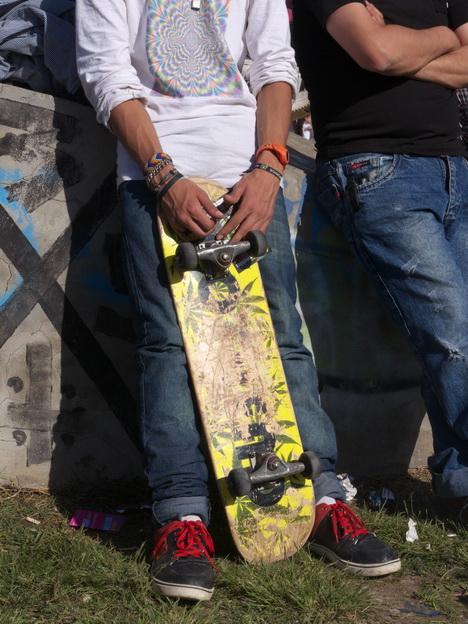 Mi orgullo. Skate y Cumbia, en La Plata, Argentina. AMILCAR MORETTI, 11 octubre 2014.