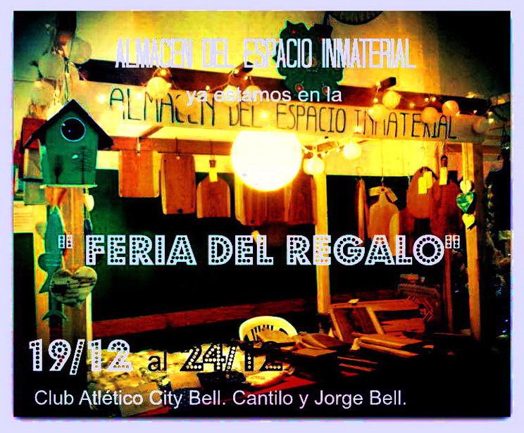 ALMACÉN DEL ESPACIO INMATERIAL. Feria de City Bell. Consultas en Facebook.