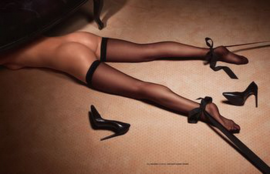La aspirante a supermodelo Kristine Zandmane en el magazine francés LUI