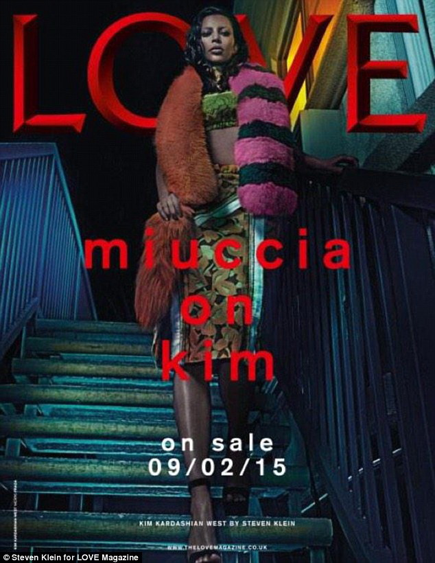 TAPA LOVE MAGAZINE, CON KARDASHIAN EN ESTILO HIPERRREALISTA EXPRESIONISTA KITSCH.