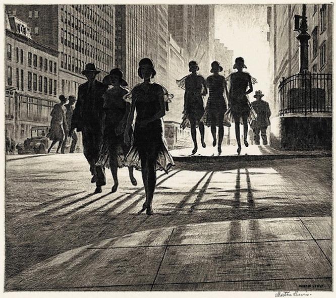 """Martin Lewis. """"Danza de las sombras"""". Nueva York, 1930."""