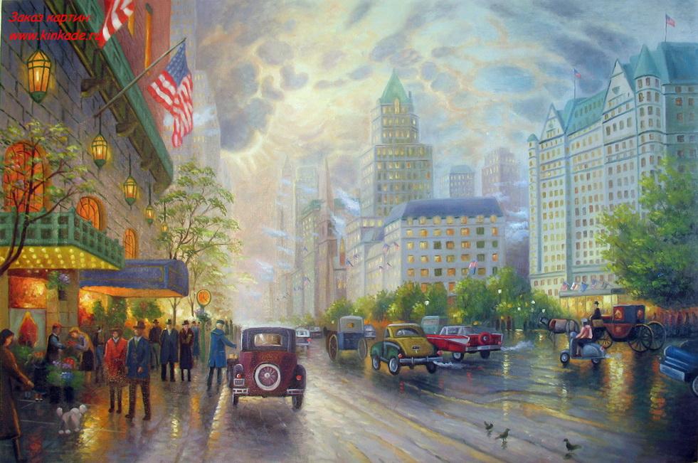 Thomas Kinkade. New York, Quinta Avenida.