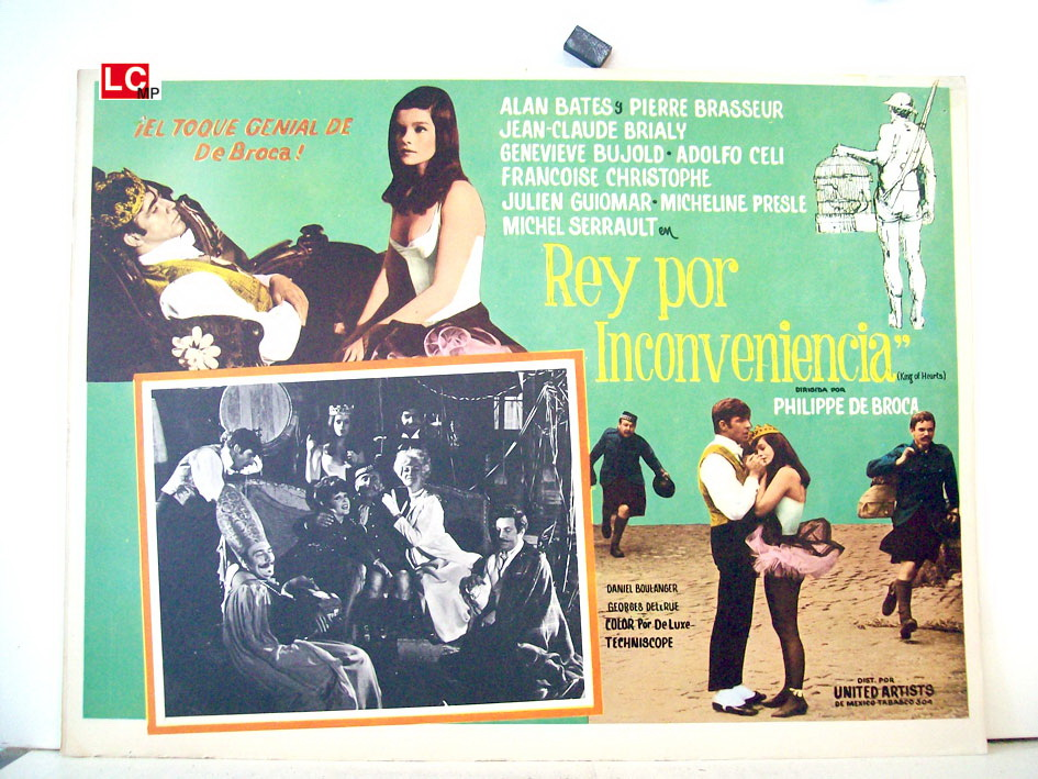 REY POR INCONVENIENCIA. lA LOCURA Y EL VALS. Típico de los años 60 del siglo pasado. (de http://www.benitomovieposter.com/)
