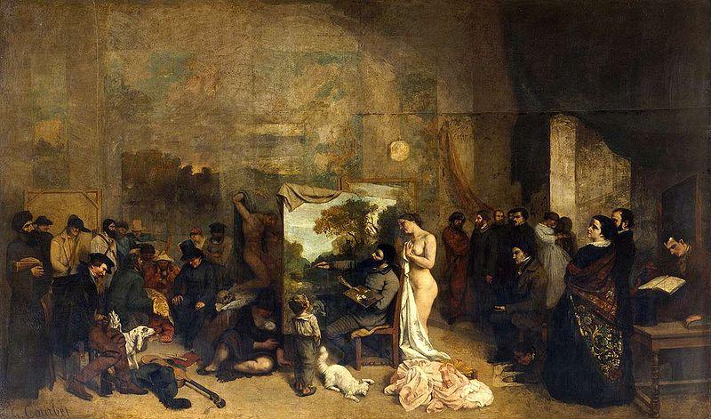 El atelier del pintor (1855), de Gustave Courbet.