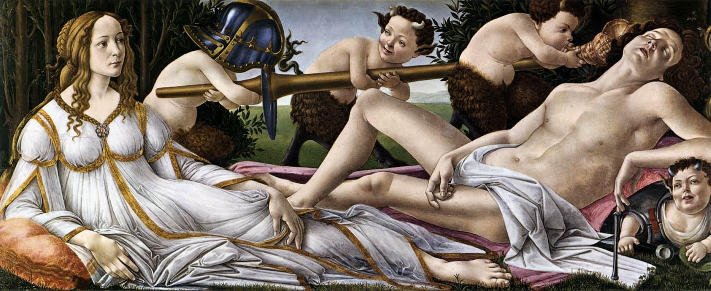 BOTTICELLI. Venus y Martes (1483)