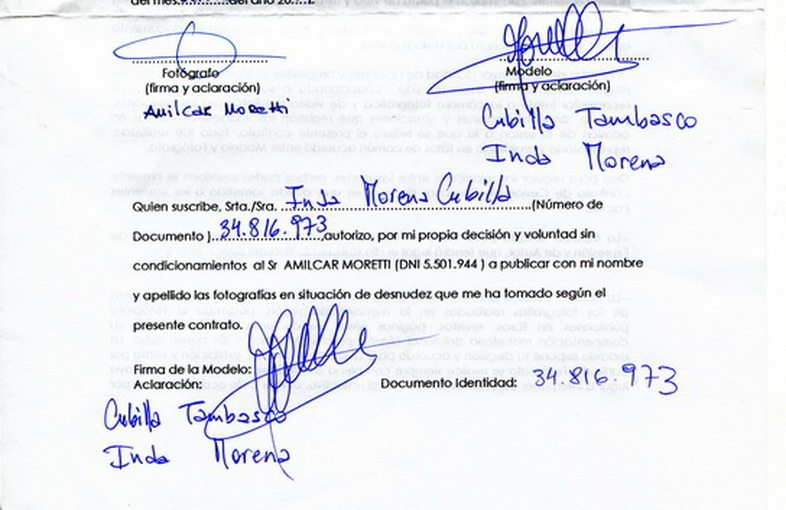 Autorización de MORENA INDA CUBILLA TAMBASCO.