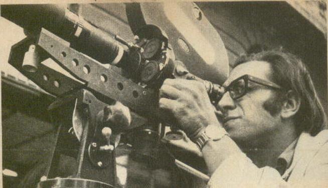 Néstor Paternostro, Pater, en un momento de una de sus filmaciones, hace unos años.