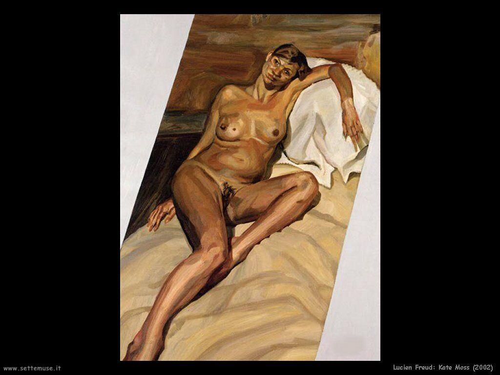 La mejor modelo del mundo, ´según la Asociación Mundial de Diseñadores de Moda con sede en Londres, KATE MOSS, en su famosa pintura en que pidió a LUCIAN Freud que la registrase para siempre.