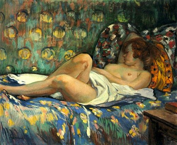 Nu Allonge 4 - Henri Lebasque (French, 1865-1937) Post-Impressionism.jpg