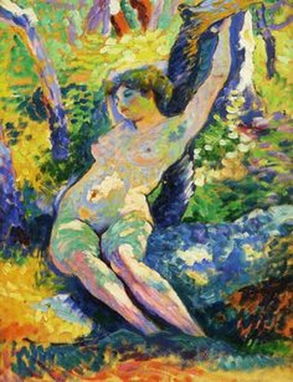 PIERRE BONNARD. Estudio de joven mujer tras su baño