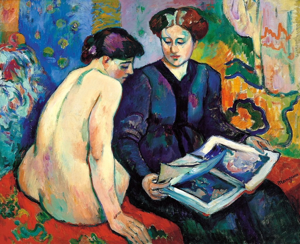 MATISSE. La esposa de Matisse explica a una de las modelos del pintor las racaterísticas de la obra del clásico artista.