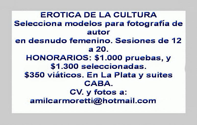 EROTICA DE LA CULTURA.AMILCARMORETTI
