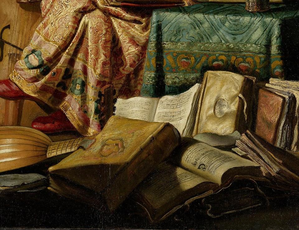 REMBRANDT: (detalle) de La Reunión Musical (1626). De The Museum Without Walls/Le Musée Imaginaire. FACEBOOK