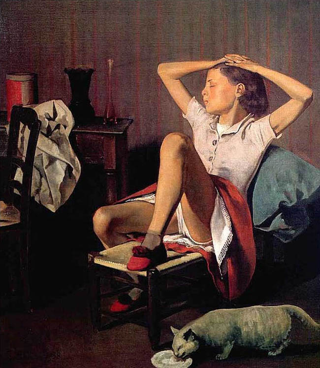 "BALTHUS. ""Theresa revant"", 1938."